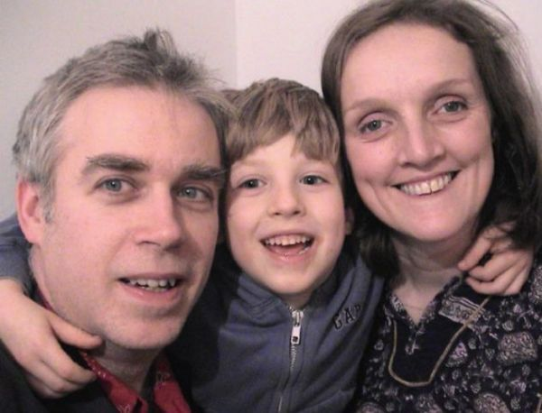 Maddy and Michael pictured with their son Ruairi
